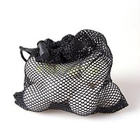 Free Shipping Nylon Mesh Nets Bag Pouch Tennis Golf Ball Equipment Holder 24 Balls Black Portable Storage Drawing String Closure