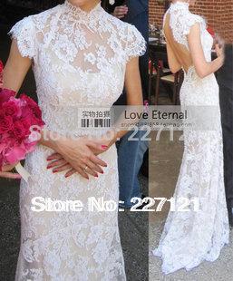 2014 свадебное платье сексуальная открытой спиной длинный шнурок свадебное платье модный brideslmaid платье белый красный цвет Availabal леди платье