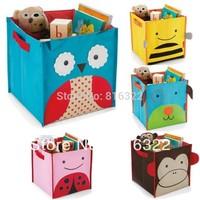 Free Shipping bee ladybug owl cartoon animal storage bin boxes