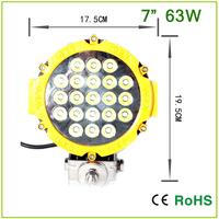 63W EPISTAR LED, 7 INCH  Automotive driving light,  off road light ,heavy-duty machine led work light Round 60W