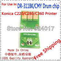 Drum Chip For Konica Minolta Bizhub C220 C280 C360 Printer,K&M DR-311K/C/M/Y Chip Use For Konica Toner Cartridge,Free ShippIng