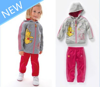 New 2013 autumn -summer outfits baby girl outerwear brand children sport suits baby clothing set children's sweater girls coat