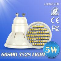10pcs/lot  Gu10  220V LED Bulb Lamp SMD5050/ SMD2835 Warm/COOL White LED Lamp Spotlight 4w/5w/6w/7wfree shipping