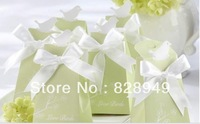 "Free shipping as candy box for hoilday sale 80 pcs/LOT ""For the Love Birds"" Elegant Icon Wedding Favor Box"