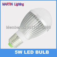 High quality E27 5W Cree LED light bulb lamp 520lm energy saving globe bulb lamp