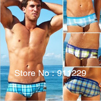 Free shipping 1 X Men's Boy's Briefs  Swiming Trunks Mens Swim Trunks Slim Swimwear Shorts