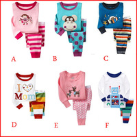 2014 new kids baby clothing 2 pcs set 100% cotton Hello kitty chidlren suit baby pajamas of the children leopard pyjamas