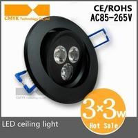 9w LED Ceiling Light Recessed Spot light AC85-265v led high power downlight Spotlight Indoor Home Lighting