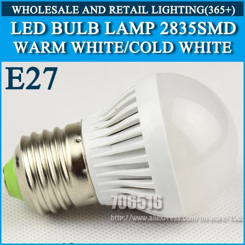 10pcs/lot LED bulb lamp High brightness lights E27 4W 5W 6W 7W 2835SMD Cold white/warm white AC220V 230V 240V Free shipping(China (Mainland))