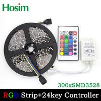 5M 12V RGB 3528 300leds Non-waterproof LED Strip Light Lamp 60LEDs/M 5M/Roll 5M/Lot Free Shipping