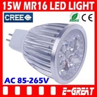 10PCS/Lot High Power MR16 led 15W 12V Bulb MR16 Socket Led Lamp Led Light Led Downlight CE/RoHS Warm/Cool White,Free Shipping