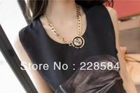 2013 Free Shipping (Min order $ 10) fashion Rihanna Style Lionhead jewelryexaggerated Unique Luxurious choker power /Retro
