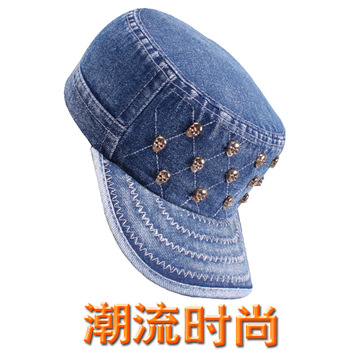 Fashion personality cowboy hat women's cadet cap summer casual cap sunbonnet military hat