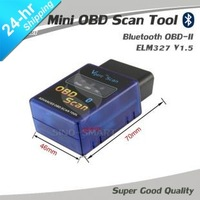 2013 new Mini ELM 327 V1.5 OBD 2/II Bluetooth car/Auto scan Diagnostic Tool/Scanner Support Android and Symbian MINI ELM327
