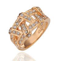 18K Platinum Plated Ring Jewelry Nickel Free Golden Plating Platinum Rhinestone Austrian Crystal Element,WholesaleR063