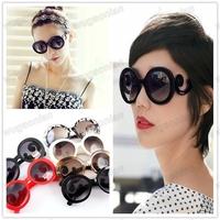 Hot Sale!New Style Retro Elegant  Butterfly Cloud Arms Semi Transparent Round Wayfarer Sunglasses Free Shipping 1pcs/lot