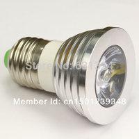 E27 LED Bulbs Magic RGB Spotlight LED bulb E27 3W 85-265V 16Colors Changing Color LED Lamp 1Pcs