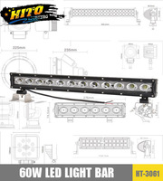 CREE 60W single row LED light bar, waterproof, high power off road LED light bar (HT-3060)