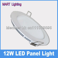 12W Ultra-thin led panel downlight lamp  pure white 1150lm round ceiling panels AC110-220v