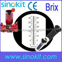 CE Certification Wholesales Brix/Sugar/ Fruit Juice Hand  Refractometer Black grip RHB-32ATC