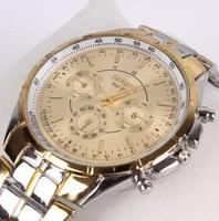 Wholesale New 2013  High Quality Men/Women Luxury Brand ROSRA Quartz Analog Watch With Full Steel Strap&White/Black/Golden Dial