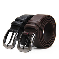new arrivals belts for men  genuine cow leather men belt+man metal buckle belts 2 colors+cowskin waist belt+free shipping(1PC)