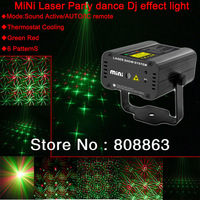 new 2013 Remote Mini RED Green 6 patterns Whirlwind Laser Projector Stage lighting DJ Dance Show Party Light D306 free shipping
