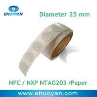 100pcs/lot RFID NFC Sticker  NTAG203 Round 25mm White