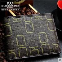Fashion PVC Short Style Men's Wallet Card Holder Lovers Wallet  Bifold Purse Free Shipping