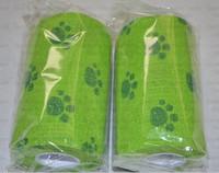 Free shipping 10cm*450cm  nonwoven Pet self adhesive bandage, vet cohesive bandage dog cat  training tape self-adhesive bandage