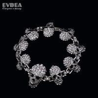 crystal skeleton skull bangle bracelet rhinestone skull bangles for women stainless steel skull skeleton bracelet