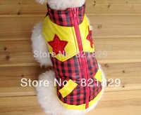 Free Shipping 2013 New Arrival Dog Winter clothes  Fashionable Pet Windcoat  Western Style Dog Winter Jacket