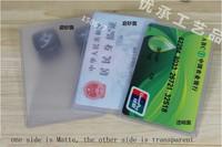 100pcs Soft Plastic Clear Credit Card Sleeves Protectors Dustproof Waterproof New