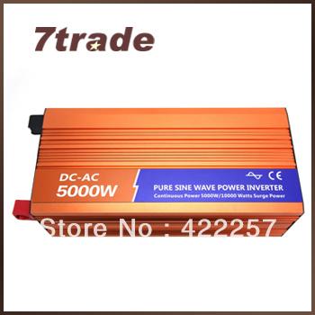 Free Shipping 5000W 24V 220V Solar Panel Inverters Peak Power 10kw With Undervoltage Protection(China (Mainland))