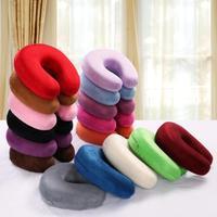 Portable  U shape massage memory foam pillow,zero stress healthy U neck memory pillow home office travel respite Cushion