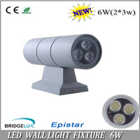 Free shipping aluminum up and downward  LED spot light 6W/10w  wall mounted lights 100-110Lm/w wholesale contact us now