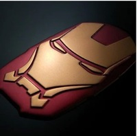 Free shipping Car decoration 3 m back glue iron man 3 d modelling individuality sticker decals