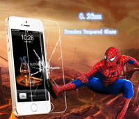 0.26mm!!  explosion-proof membrane For iPhone5 5G GLASS-M Premium Tempered Glass Screen Protector+Retail Packaging