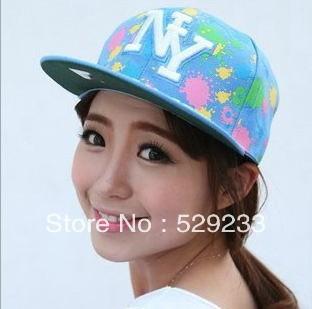 2014 Fashion New York Color Inkjet paint point hip-hop baseball cap