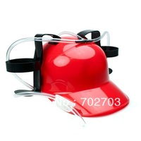 Novelty gift Free shipping drinking beer  helmet Party  drinking beer helmet  red color