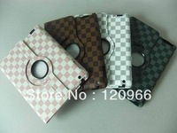 For Apple ipad2/3/4 360 degree rotating holster holster Tablet Sleeve Plaid