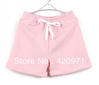 NEW Summer Fashion Children's lace-up Short Sports/ boys and girls beach Short / Jogging Trousers 14 Pure color Free shipping