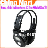 High Quality Wireless Foldable Headphone Headset MP3 Player FM RadioTF Card Slot Free shipping