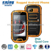 DHL Free shipping China 2013 newest IP68 MTK6589 Quad Core 3G Android 4.2 WIFI GPS waterproof shockproof phone