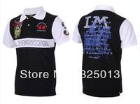 Brand Fashion men T shirt Spanish style Sleeve Tee Sport Golf  T Shirts,Totem Embroidry Wholesale, Free Shipping