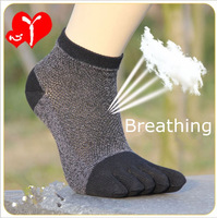 4 pcs/lot  High quality Men's socks male toe socks 100% cotton toe socks toe spring and summer hot selling 4 pcs/lot