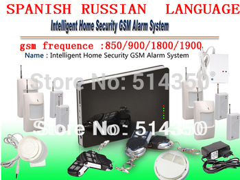 New iOS Apps Supported ~ Smart Wireless Wired Burglar GSM Home Security Alarm System, Remote Control kit by SMS & Calling
