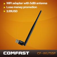 Wireless Adapter 150M Computer USB LAN Card 802.11n/g/b 2.4GHz Ralink 5370 chipset wi-fi Adapter wifi Dongle Network CF-WU715N