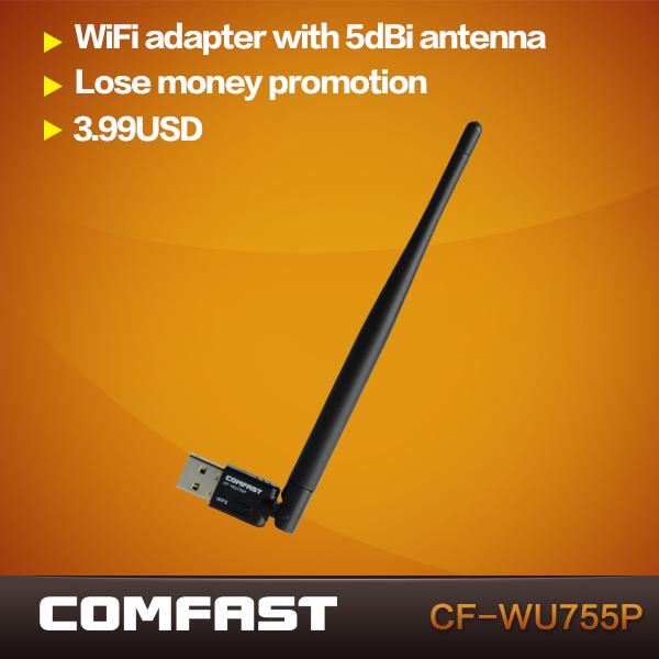 Mini USB Wireless N 802.11 b/g/n WiFi Adapter Wi-Fi Dongle High Gain 150Mbps Ralink 5370 chipset COMFAST CF-WU715N(China (Mainland))