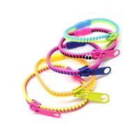 New arrival 2013 Hot Selling fluorescent  neon color rainbow Levels personality zipper bracelet (20 pcs/lot)   free shipping
